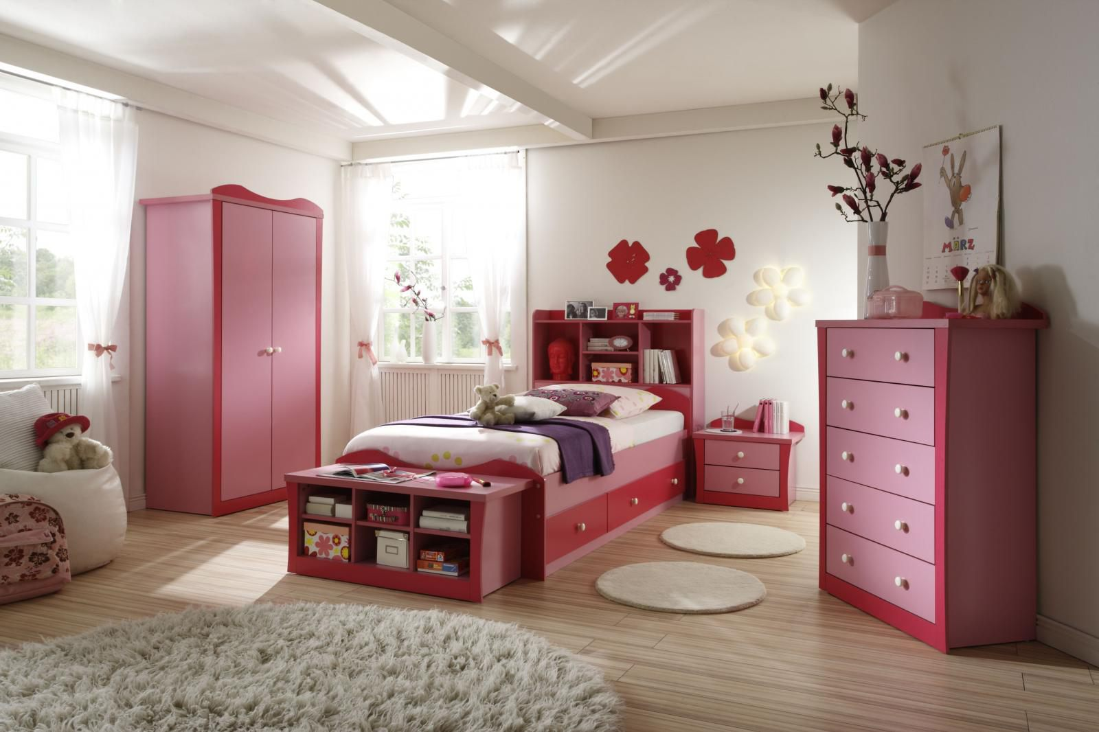 Simple Pink White Girl Room Bedroom Ideas For Girls