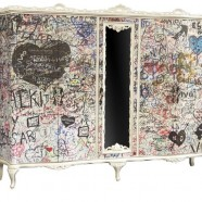 Graffiti Covered Wardrobe