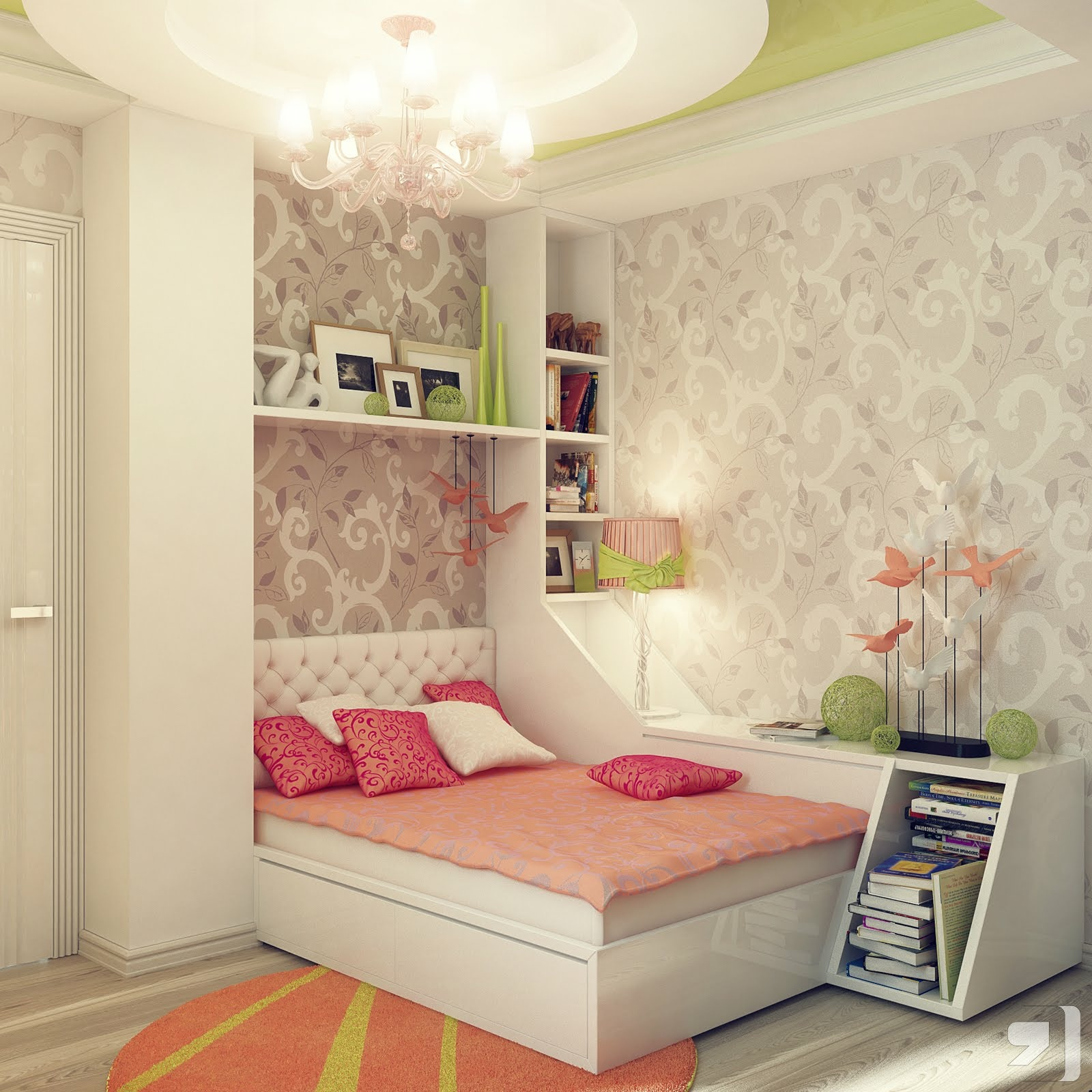superb design ideas green gray girls bedroom decor girls bedroom design ideas pampered in luxury Bedroom Ideas For Girls