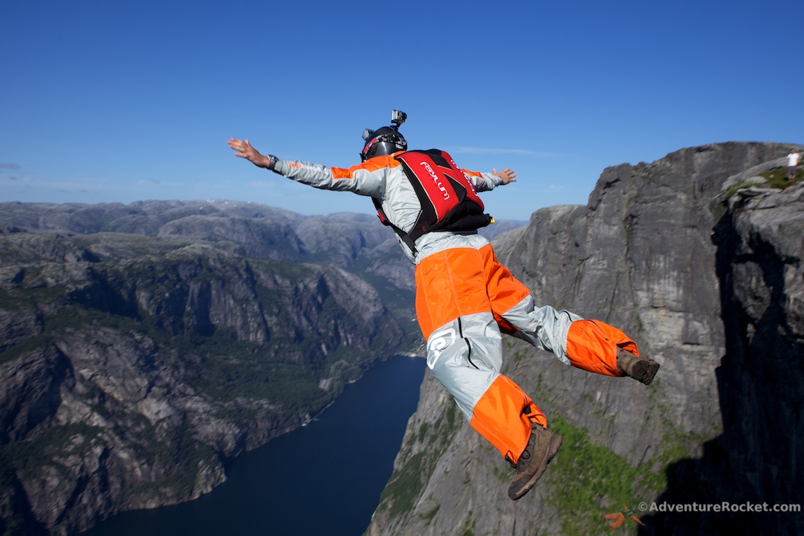 Base Jumping Norway Kjerag Apex Adrenalin Base Phoenix Fly Wingsuit Tracking Suit 23 YOLO!