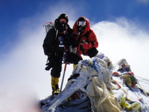 Everest summit 1 300x225 Sitting on top of the world