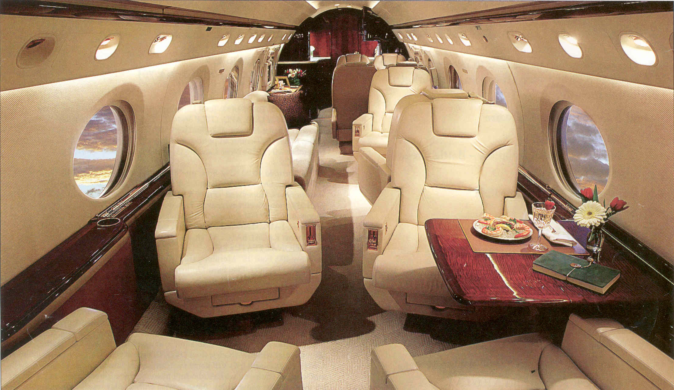GulfstreamCharterJetInterior First Class? Ill pass