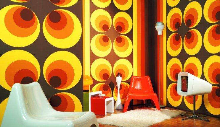 Funky 70′s wallpaper