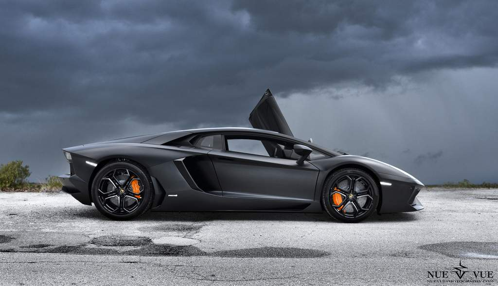 lamborghini aventador lp matte black Designed for Speed