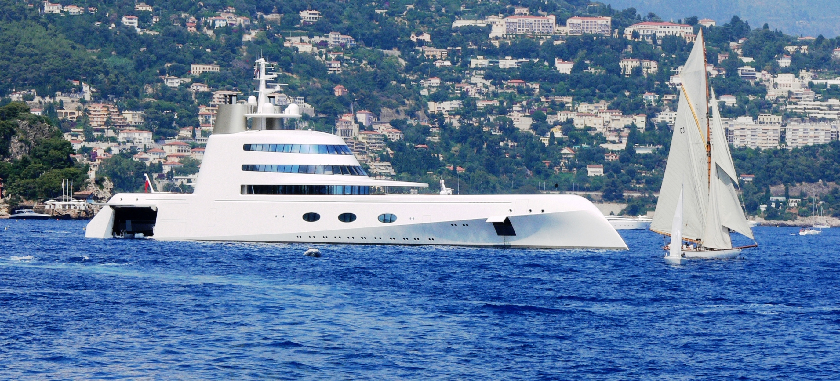 Motor Yacht A - Anchored off Monaco 2009
