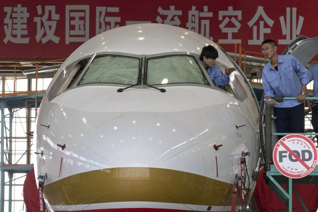 comac front Chinas new airplane