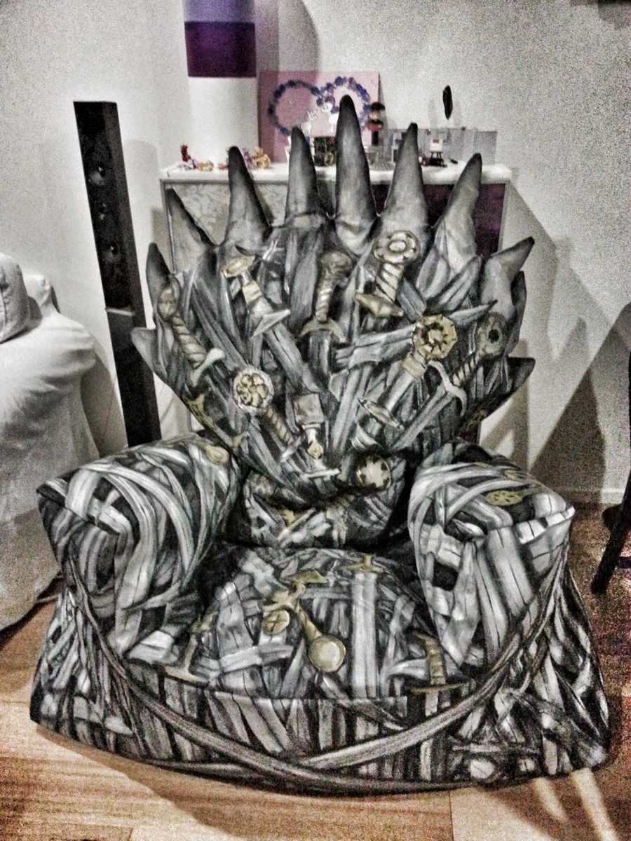 design Iron armchair Game of Thrones bean bag chair