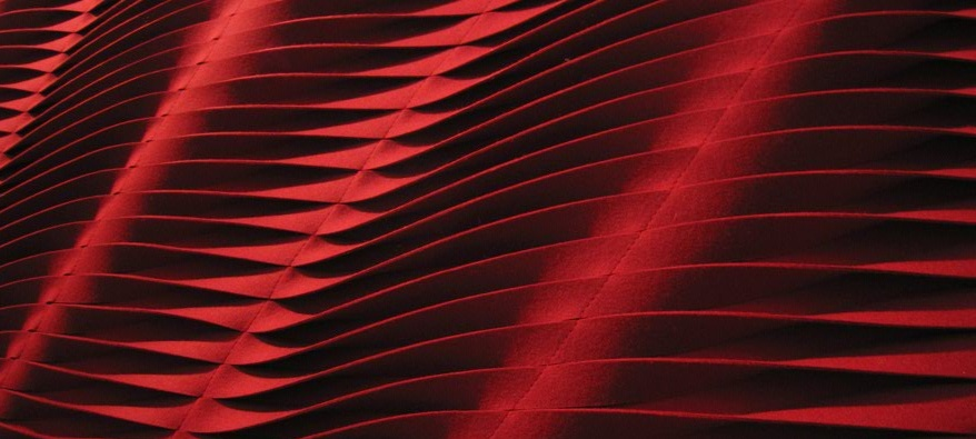 red 3d fabric 3D textiles