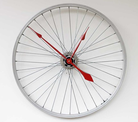 Bike Wheel Clock Cool clock designs