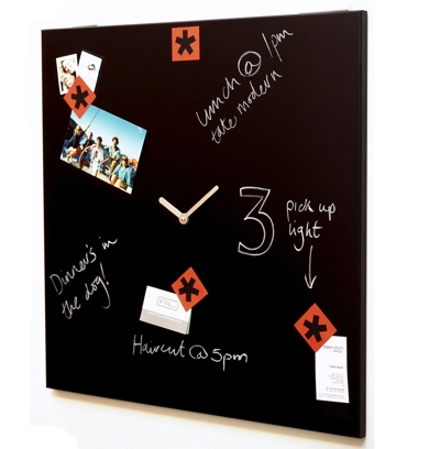 Black Blum Time Square Memo Board Cool clock designs