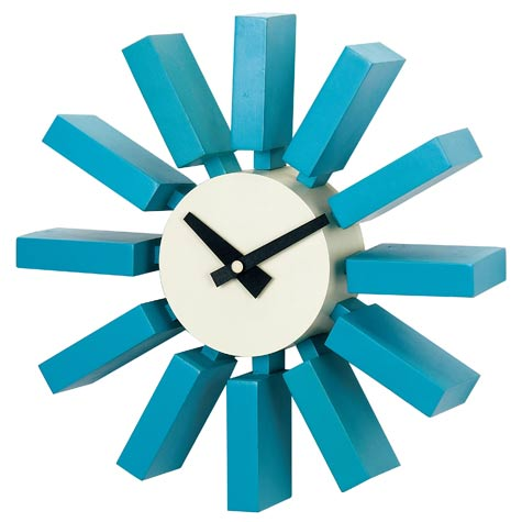 Blue Block Clock Cool clock designs