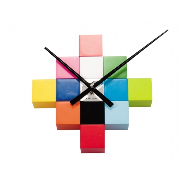 DIY Cubic Clock Multicolour Cool clock designs