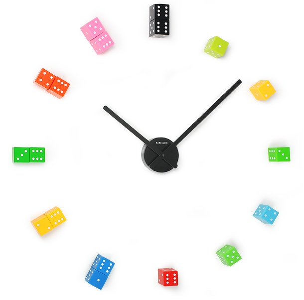 DIY Dice wall clock