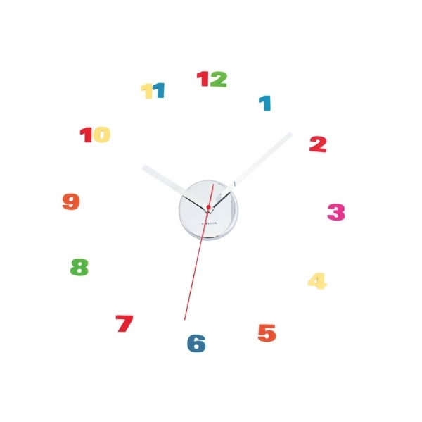 DIY Loose Number Clock Colour Cool clock designs