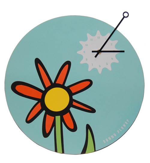 Flower Wall Clock Cool clock designs