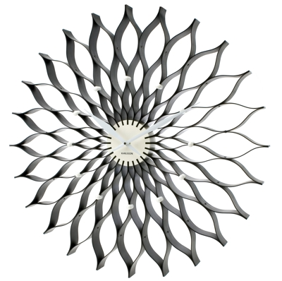 Karlsson Black Lotus Clock Cool clock designs