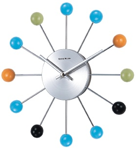 Multi Color Orbit Wall Clock Cool clock designs