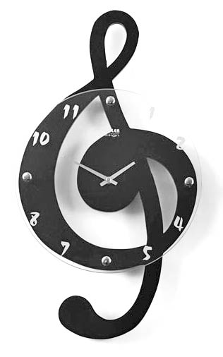 Musical Clef Clock Cool clock designs