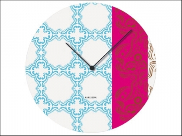 Muurbloem Tiles Clock Blue