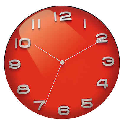 Red Dome Vintage Wall Clock Cool clock designs