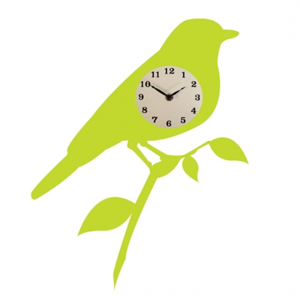 Silhouette Bird Sticker Clock