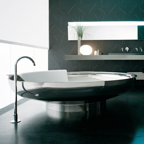 chrome ufo bath Inspirational bathroom ideas