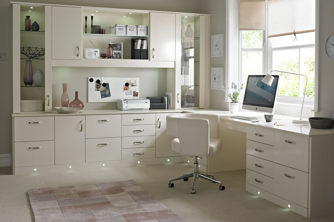 cream home office Office design ideas