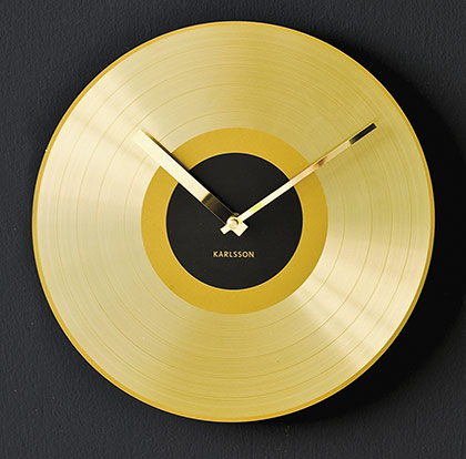 mega gold disc clock Cool clock designs