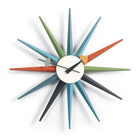 sunburst wall clock